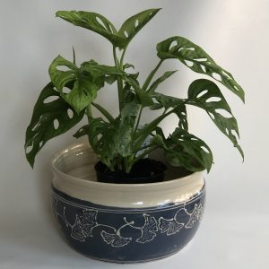 plantenpot blauwgrijs