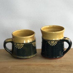 espresso en koffie beker met oor